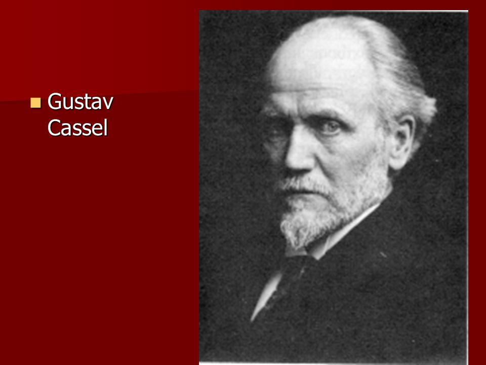 Gustav Cassel Gustav Cassel