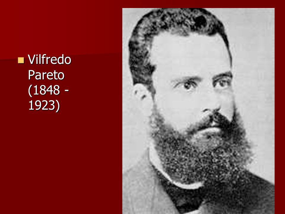 Vilfredo Pareto (1848 - 1923) Vilfredo Pareto (1848 - 1923)