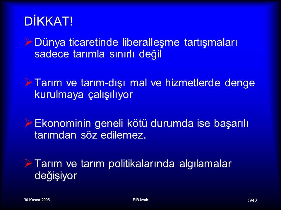 30 Kasım 2005EİB-İzmir 5/42 DİKKAT.