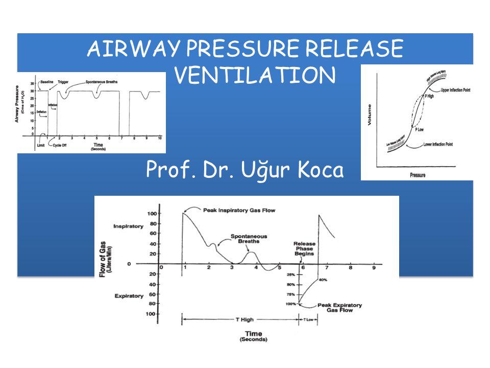 AIRWAY PRESSURE RELEASE VENTILATION Prof. Dr. Uğur Koca AIRWAY PRESSURE RELEASE VENTILATION Prof. Dr. Uğur Koca