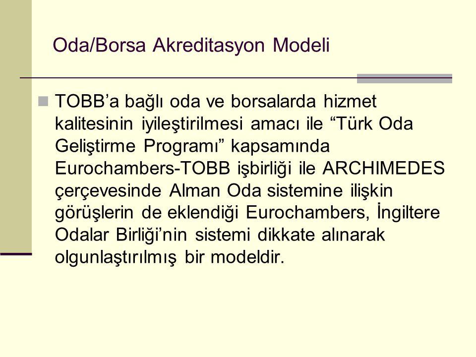 """Oda/Borsa Akreditasyon Modeli TOBB'a bağlı oda ve borsalarda hizmet kalitesinin iyileştirilmesi amacı ile """"Türk Oda Geliştirme Programı"""" kapsamında Eu"""