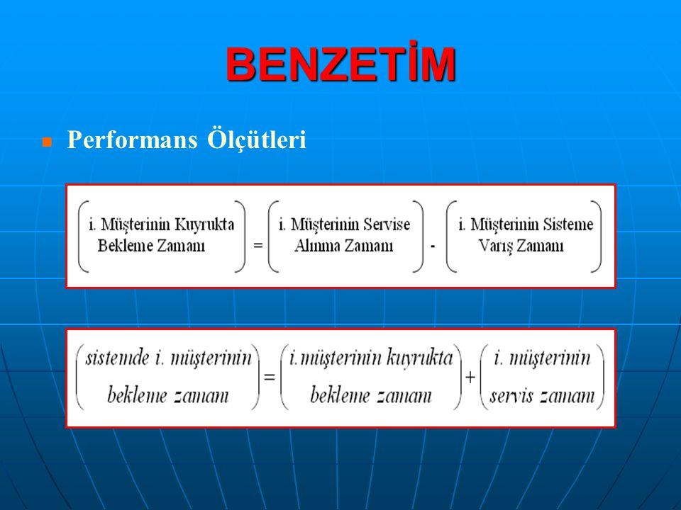 BENZETİM Performans Ölçütleri