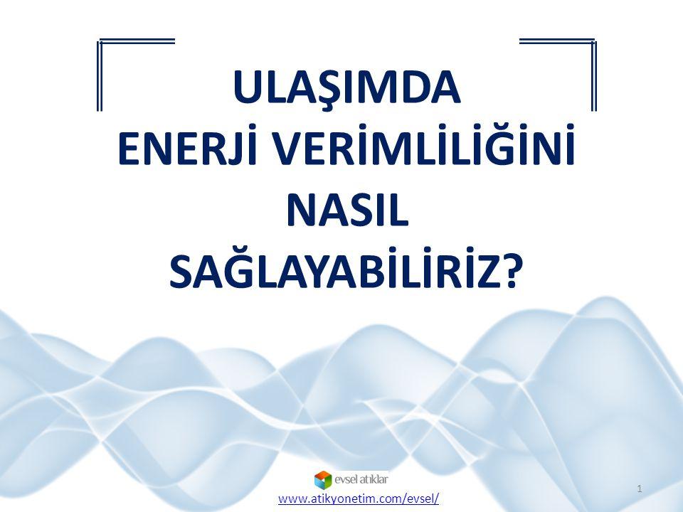 Ulaşımda Enerji Verimliliği 2 www.atikyonetim.com/evsel/