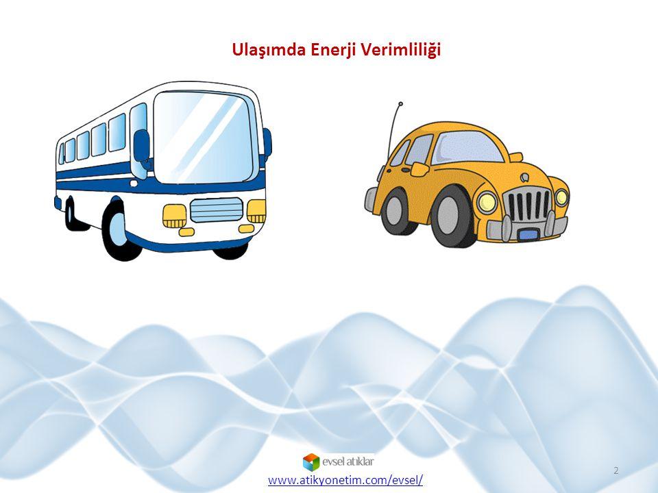  Ülkemizde üretilen enerjinin yaklaşık %20'sinin ulaşım sektöründe kullanıldığı bilinmektedir.