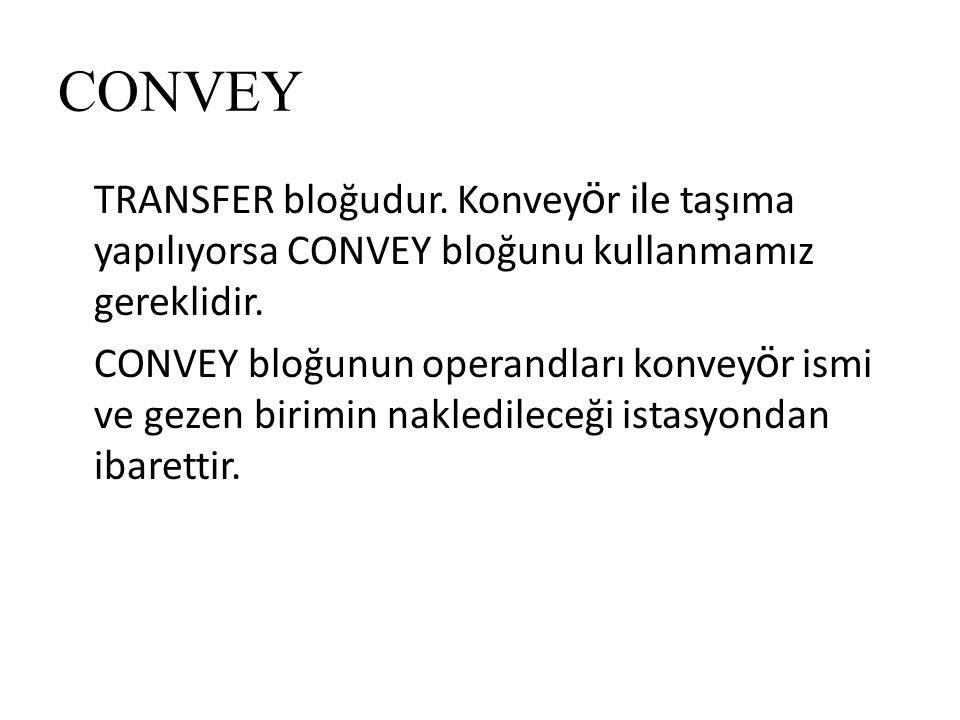 CONVEY TRANSFER bloğudur.