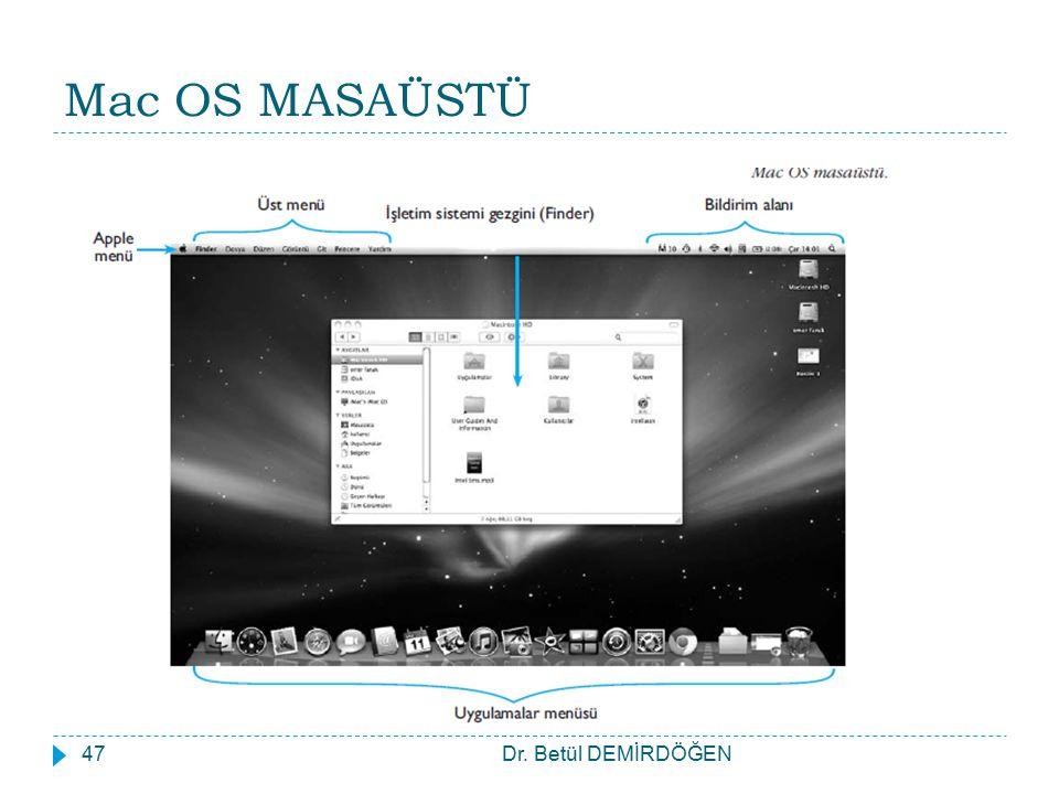 Mac OS MASAÜSTÜ Dr. Betül DEMİRDÖĞEN47