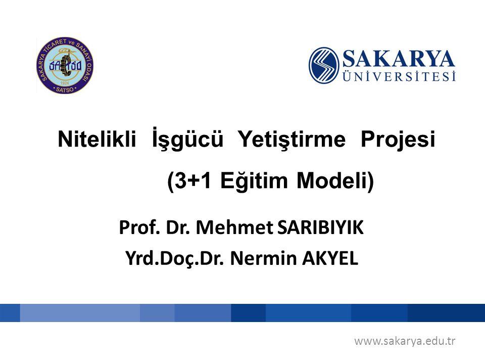 Nitelikli İşgücü Yetiştirme Projesi (3+1 Eğitim Modeli) www.sakarya.edu.tr Prof. Dr. Mehmet SARIBIYIK Yrd.Doç.Dr. Nermin AKYEL