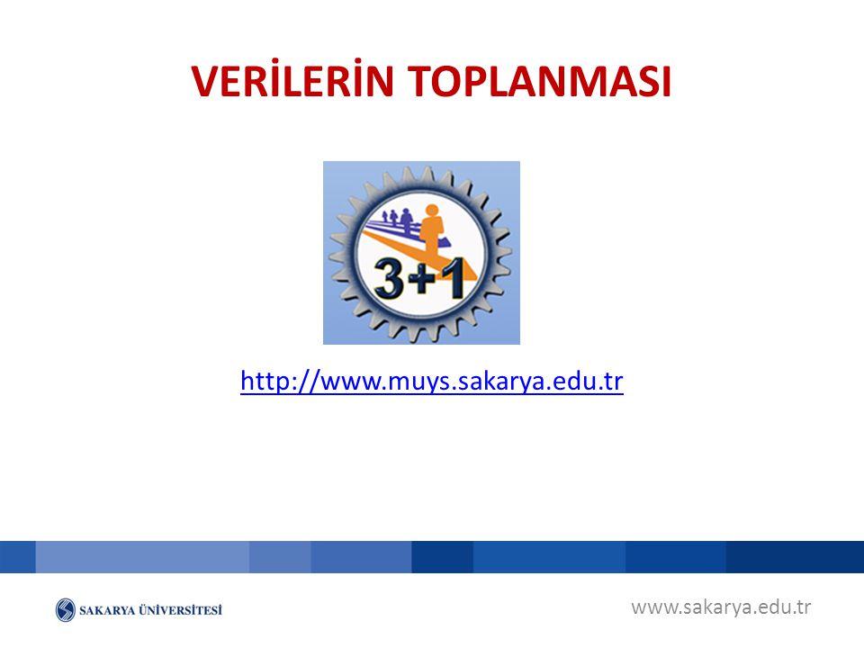 www.sakarya.edu.tr http://www.muys.sakarya.edu.tr VERİLERİN TOPLANMASI