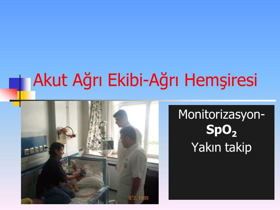 Akut Ağrı Ekibi-Ağrı Hemşiresi Monitorizasyon- SpO 2 Yakın takip