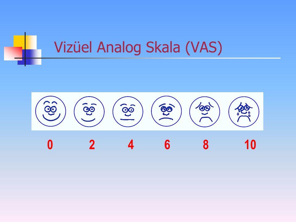 Vizüel Analog Skala (VAS) 0 2 46 810