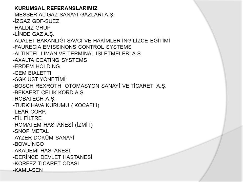 KURUMSAL REFERANSLARIMIZ -MESSER ALİGAZ SANAYİ GAZLARI A.Ş.