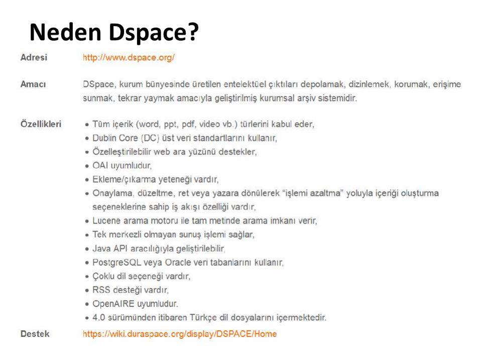 DSpace Kullanım Haritası