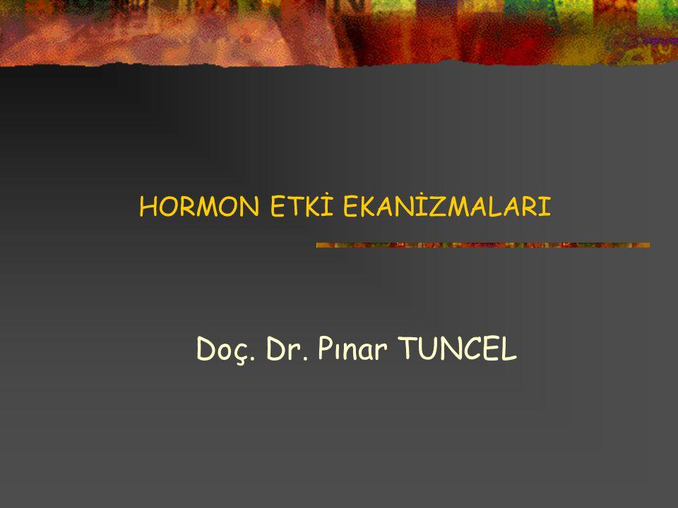 HORMON ETKİ EKANİZMALARI Doç. Dr. Pınar TUNCEL