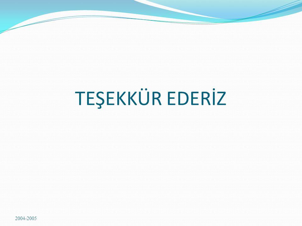TEŞEKKÜR EDERİZ 2004-2005