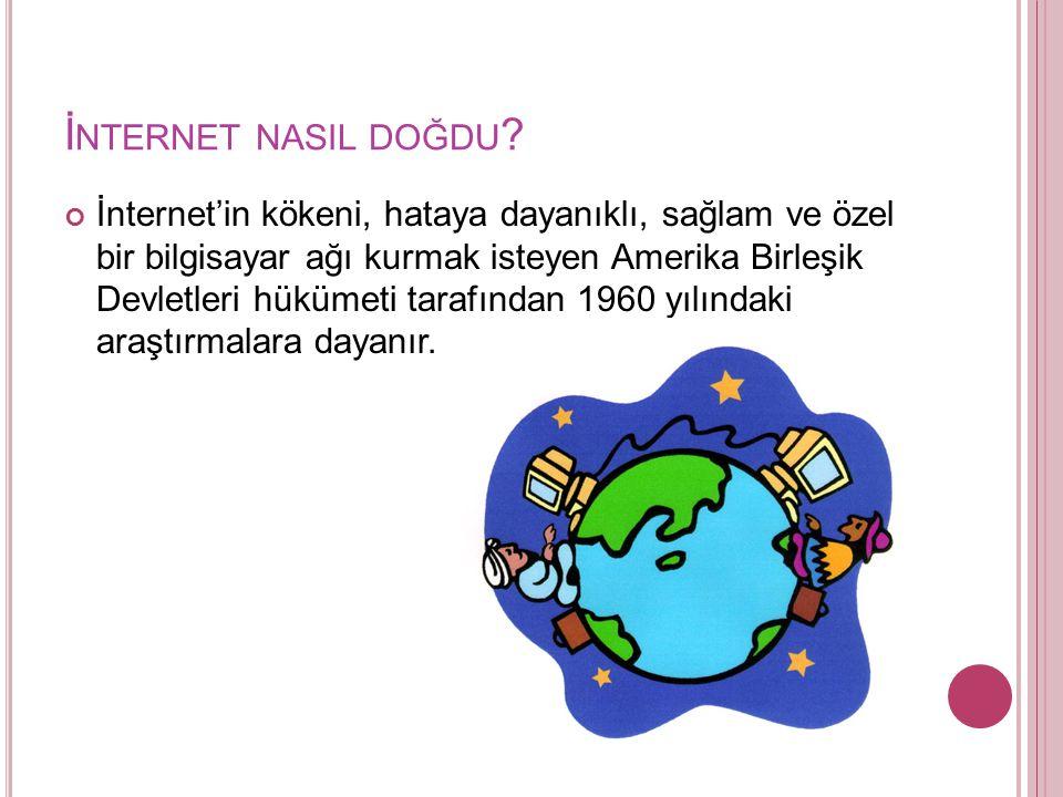 İ NTERNET NASIL DOĞDU .