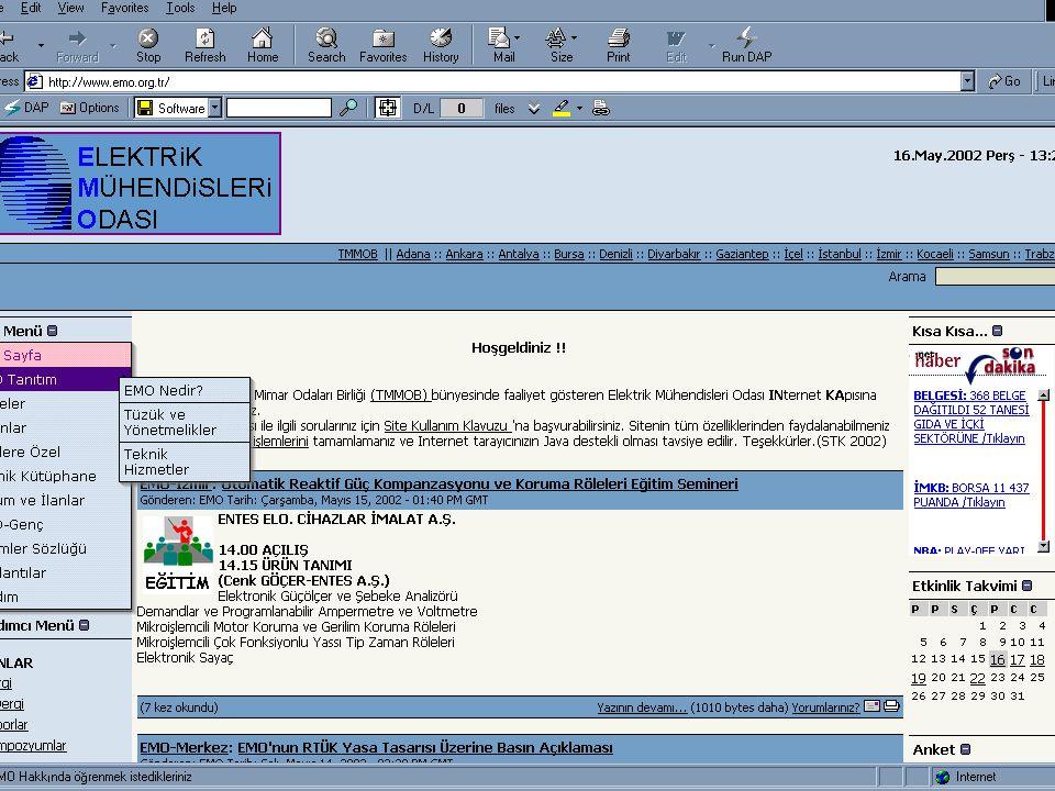 1. Serbest Yazılım ve Linux Şenliği / Ankara Http://www.emo.org.tr E-DERGİ
