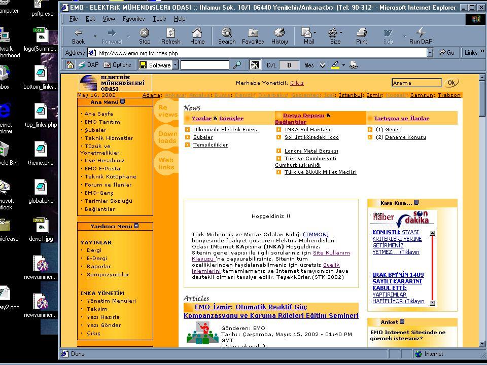 1. Serbest Yazılım ve Linux Şenliği / Ankara Http://www.emo.org.tr WEB SAYFASI VE EMO
