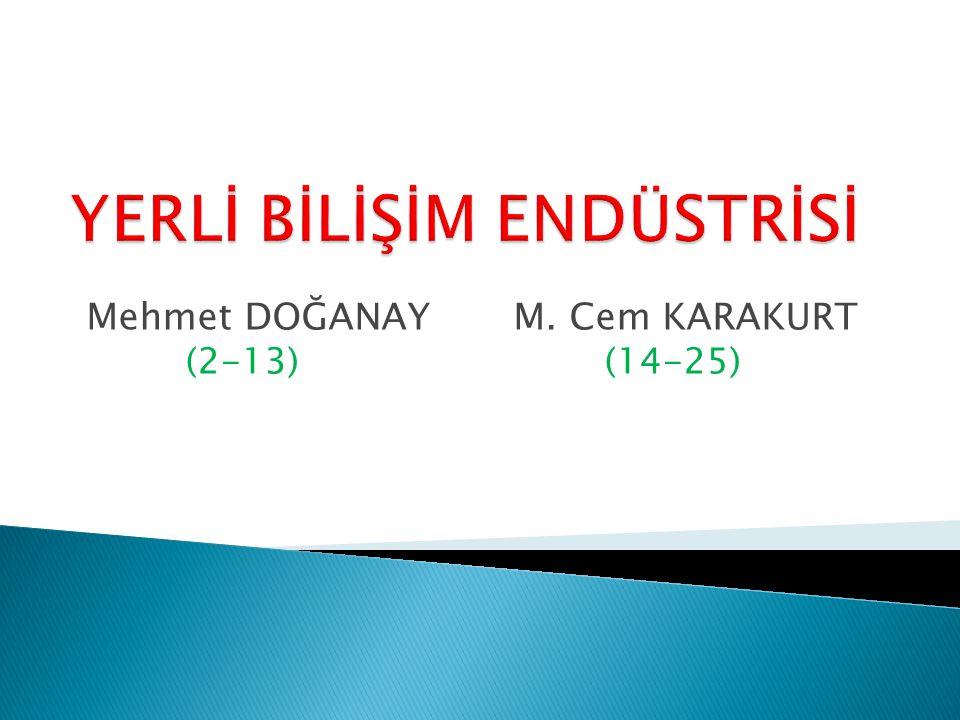 Mehmet DOĞANAY M. Cem KARAKURT (2-13) (14-25)