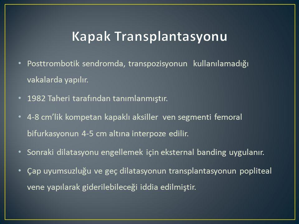 Posttrombotik sendromda, transpozisyonun kullanılamadığı vakalarda yapılır.