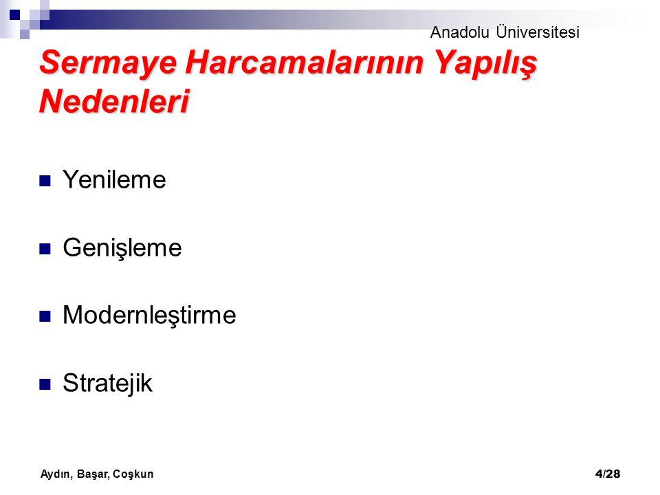 Anadolu Üniversitesi Aydın, Başar, Coşkun 5/28