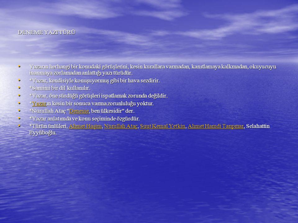 17) I.Makale II. Fıkra III. Deneme IV.