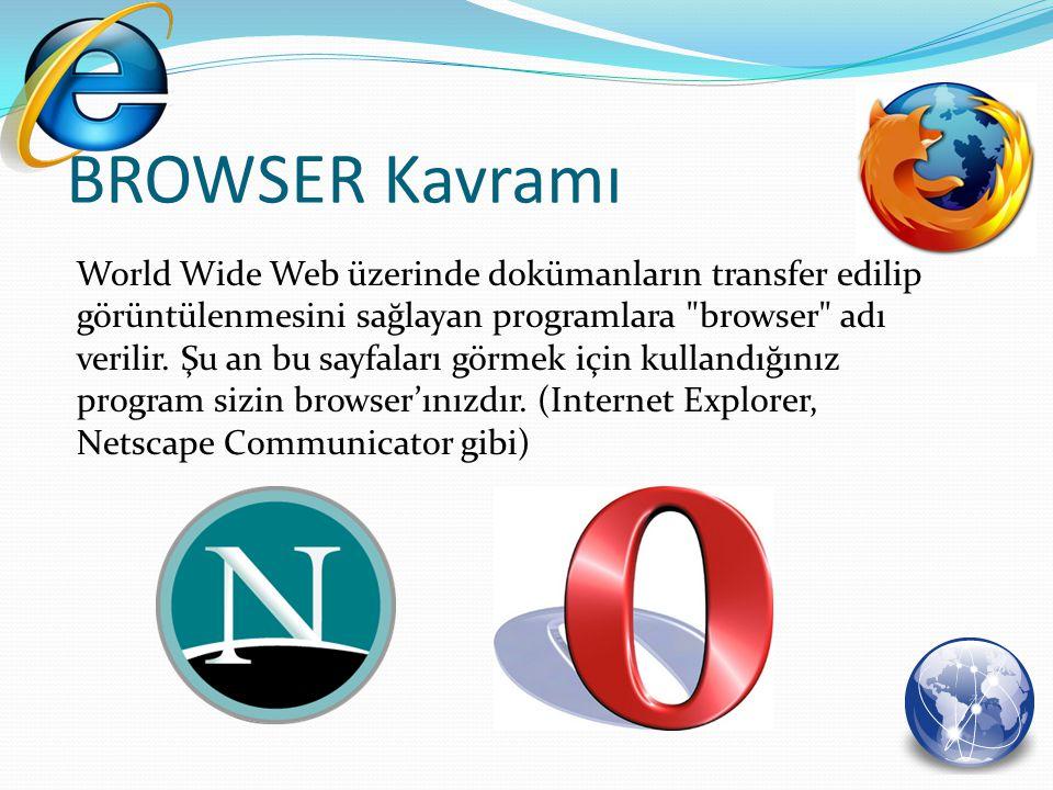 World Wide Web üzerinde dokümanların transfer edilip görüntülenmesini sağlayan programlara
