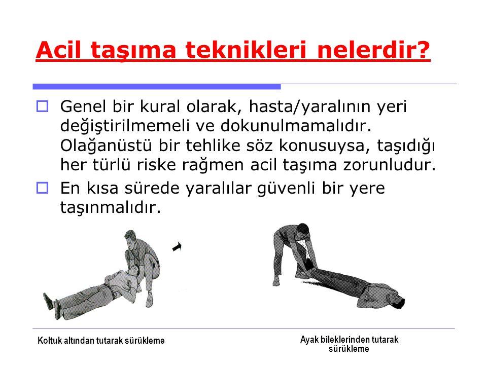 2-İlkyardımcının omzundan destek alma:  Hafif yaralı ve yürüyebilecek durumdaki hasta/yaralıların taşınmasında kullanılır.