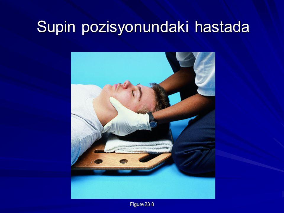 Figure 23-8 Supin pozisyonundaki hastada