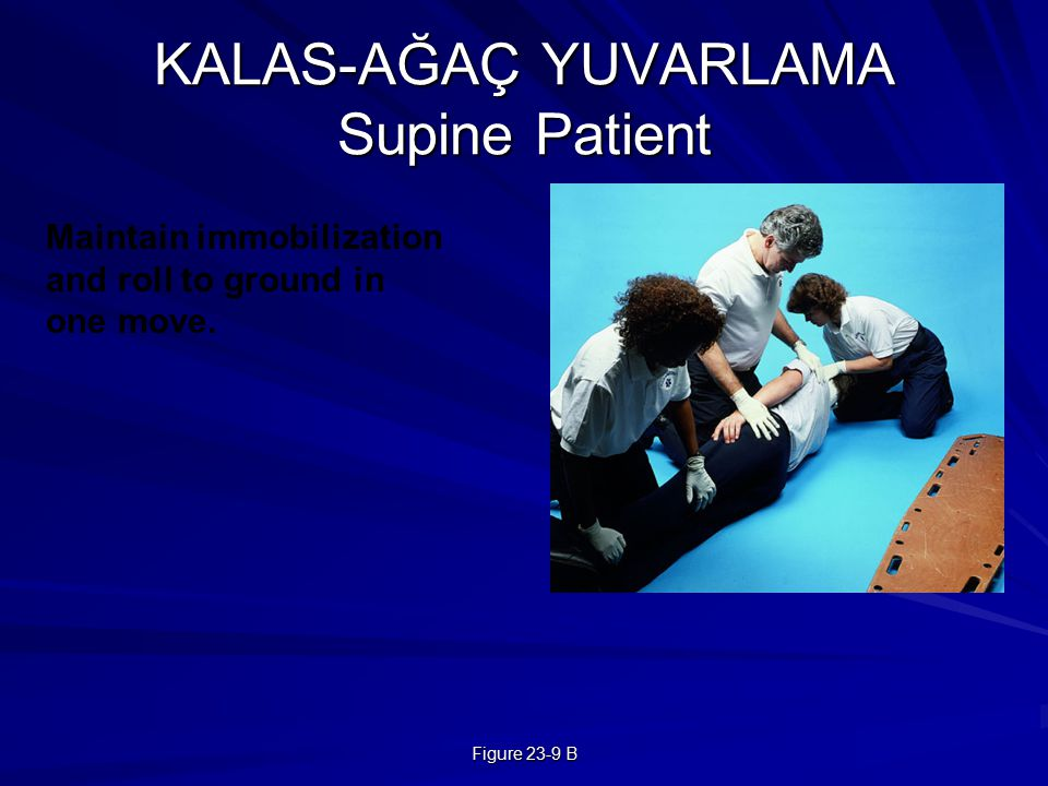 Figure 23-9 B KALAS-AĞAÇ YUVARLAMA Supine Patient Maintain immobilization and roll to ground in one move.