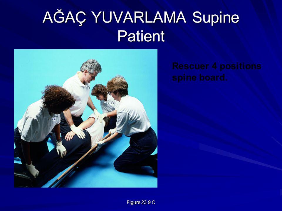 Figure 23-9 C AĞAÇ YUVARLAMA Supine Patient Rescuer 4 positions spine board.