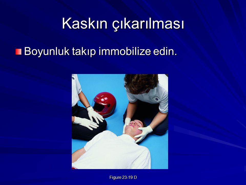 Figure 23-19 D Kaskın çıkarılması Boyunluk takıp immobilize edin.