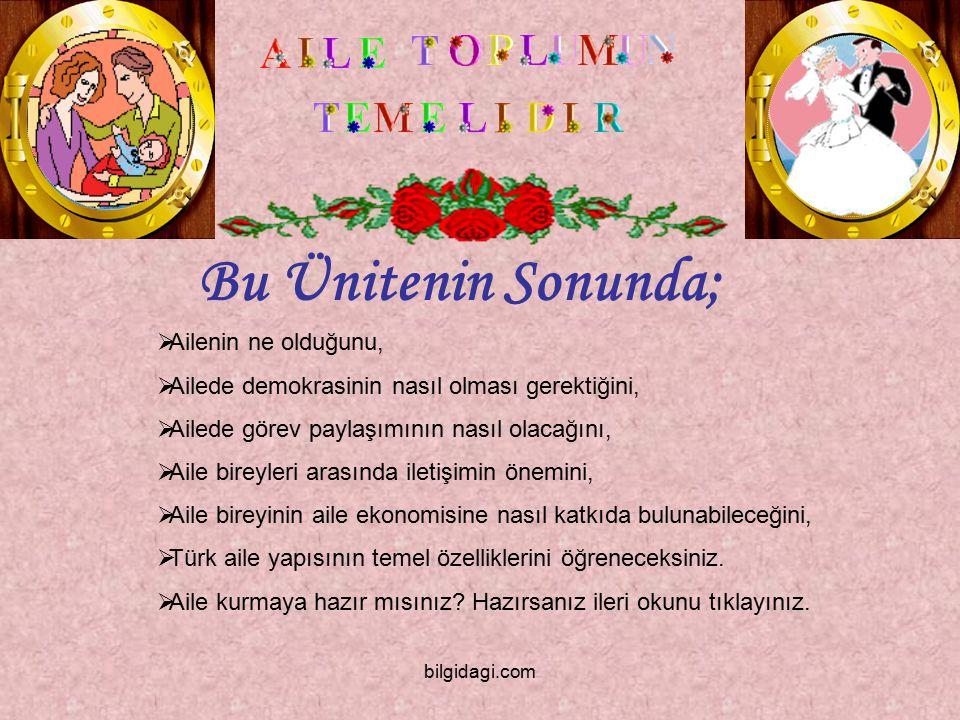 Türk Aile Yapısının Temel Özellikleri Nelerdir.Türk aile yapısı son derece sağlamdır.