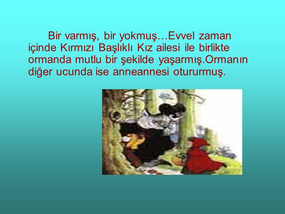 Bir varmış, bir yokmuş…Evvel zaman içinde Kırmızı Başlıklı Kız ailesi ile birlikte ormanda mutlu bir şekilde yaşarmış.Ormanın diğer ucunda ise anneann