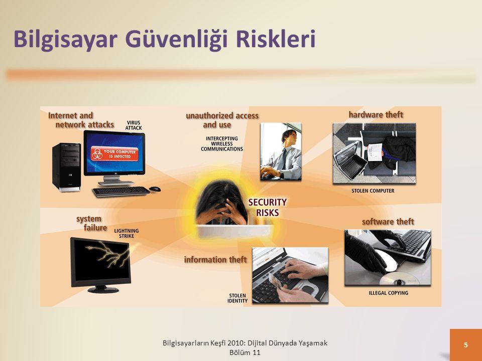 Bilgisayar Güvenliği Riskleri Bilgisayarların Keşfi 2010: Dijital Dünyada Yaşamak Bölüm 11 5
