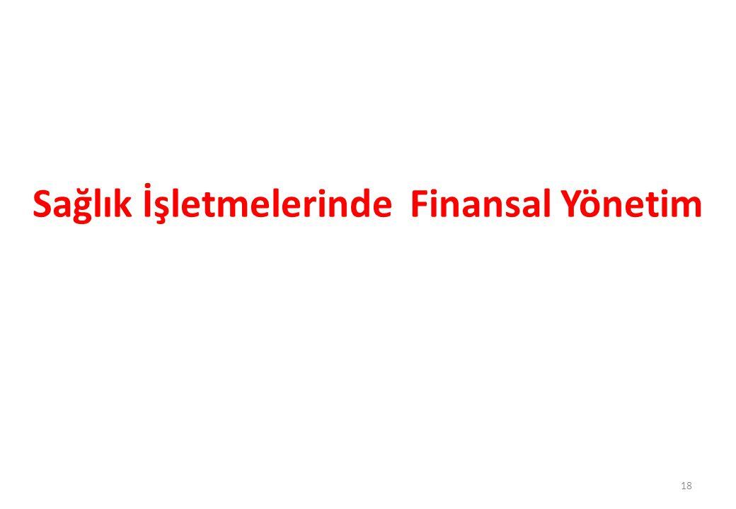Sağlık İşletmelerinde Finansal Yönetim 18