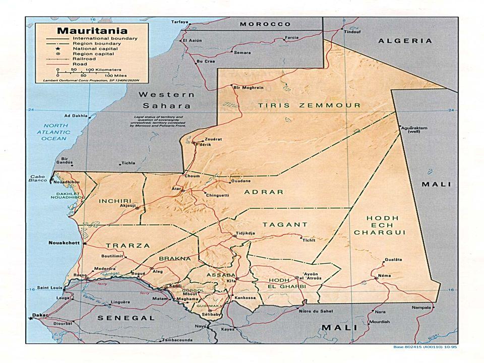 Başkent Nouakchott dan bir görünüm