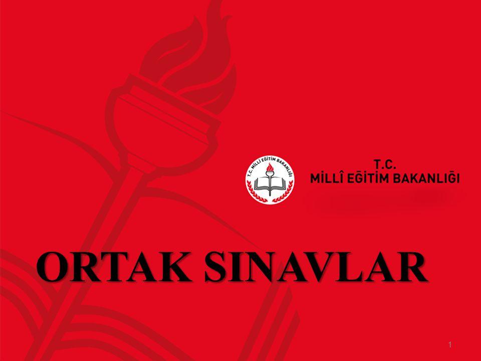 ORTAK SINAVLAR 1