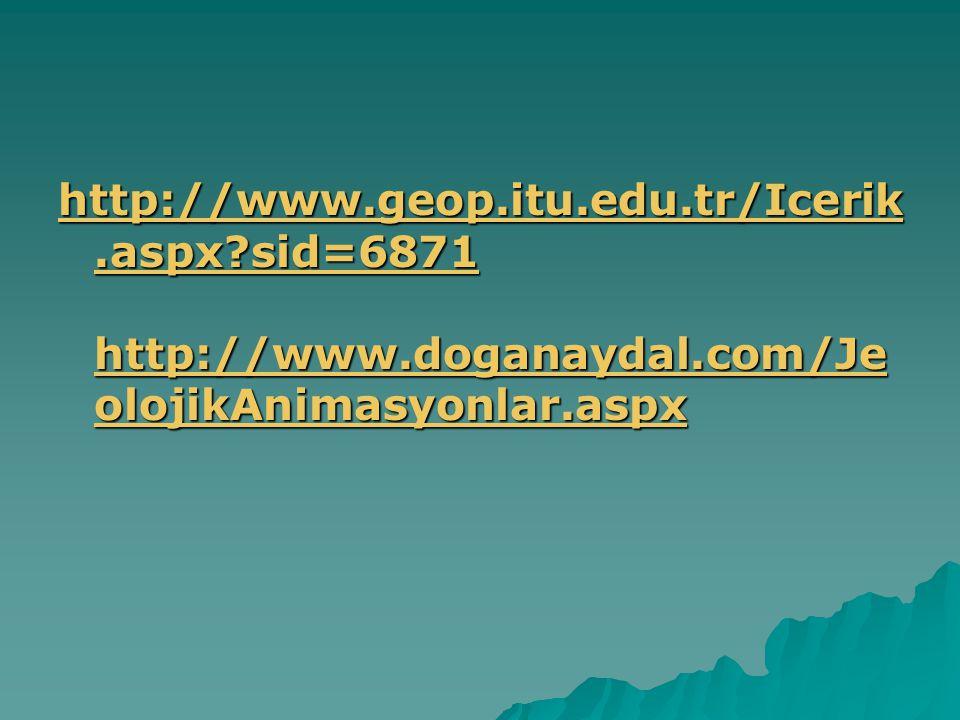 http://www.geop.itu.edu.tr/Icerik.aspx?sid=6871 http://www.doganaydal.com/Je olojikAnimasyonlar.aspx http://www.geop.itu.edu.tr/Icerik.aspx?sid=6871 h