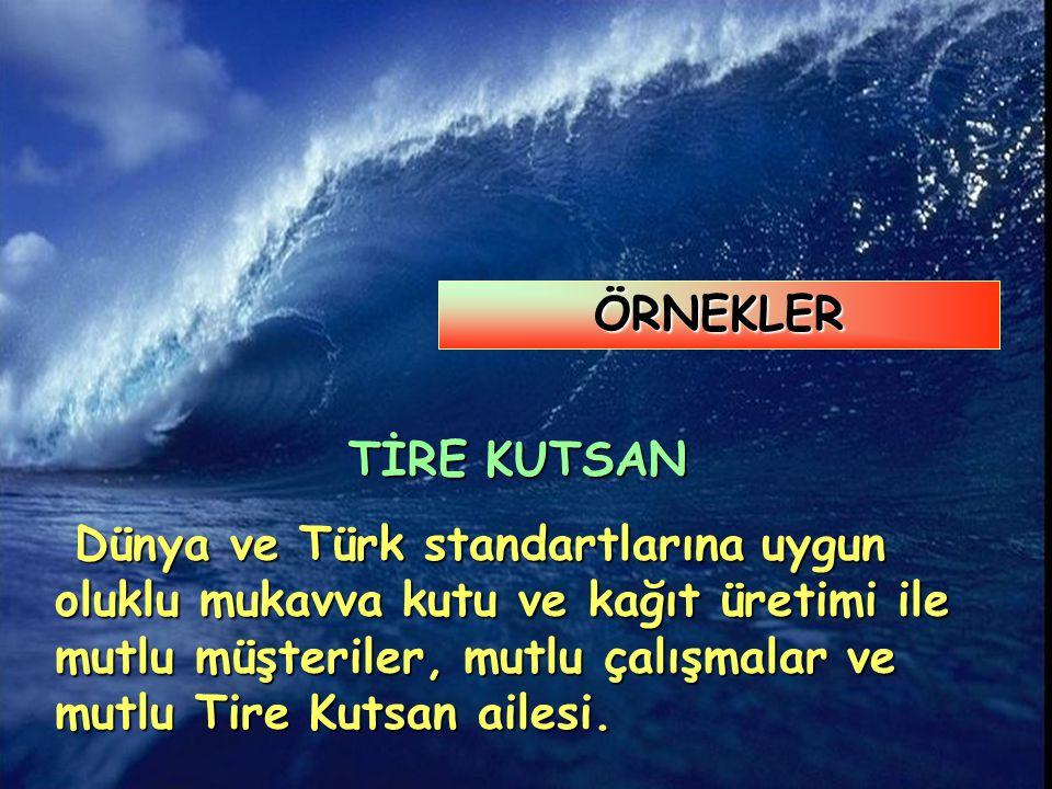 TİRE KUTSAN Dünya ve Türk standartlarına uygun oluklu mukavva kutu ve kağıt üretimi ile mutlu müşteriler, mutlu çalışmalar ve mutlu Tire Kutsan ailesi.