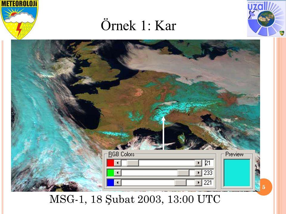 6 Örnek 2: Bitki Örtüsü MSG-1, 23 Haziran 2003, 15:00 UTC