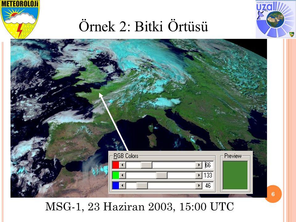 7 Örnek 3: Çöl MSG-1, 3 Şubat 2004, 11:30 UTC