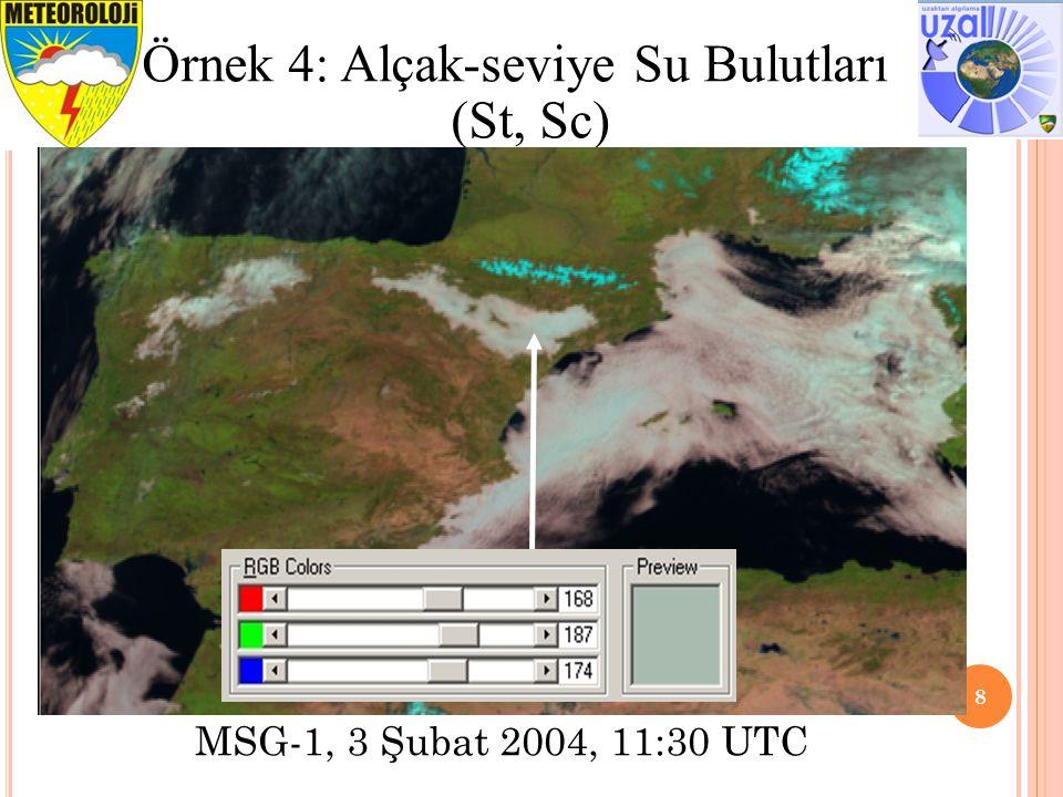 9 Örnek 5: Toz Bulutu MSG-1, 3 Mart 2004, 16:00 UTC