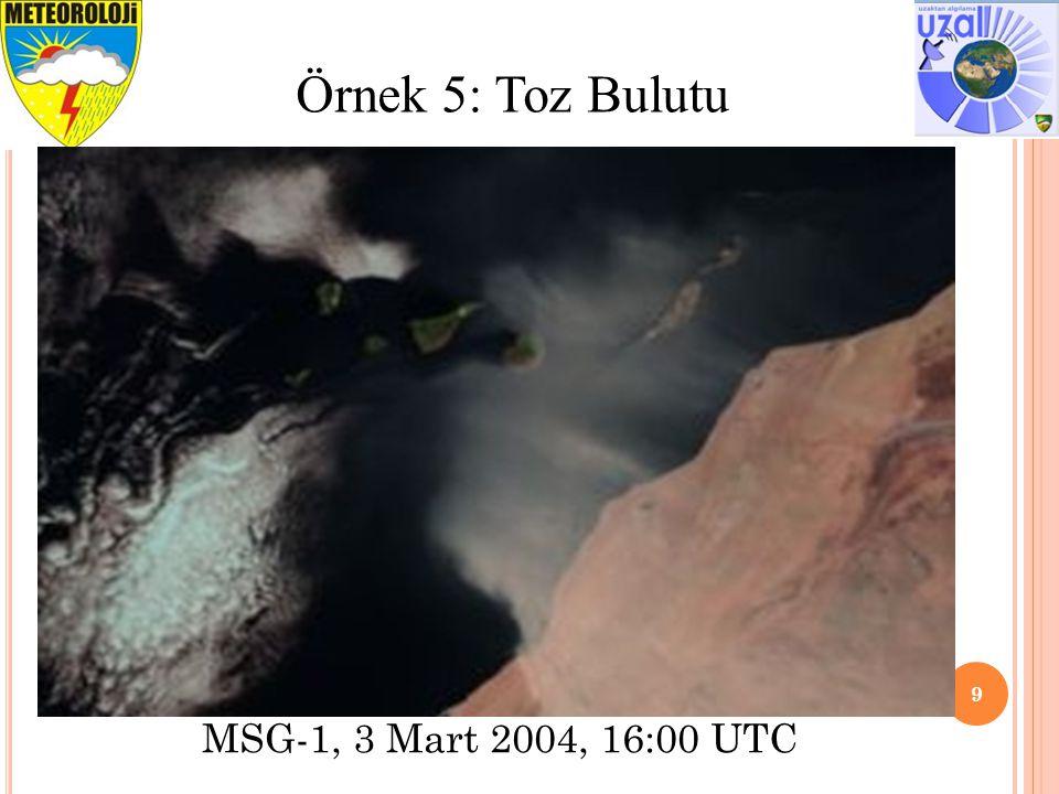 10 Örnek 6: Güneş Işıltısı ve Kuru Tuz Gölü 13 September 2005, 19:00 UTC 25 June 2007, 08:00 UTC Güneş Işıltısı Kuru Tuz Gölü