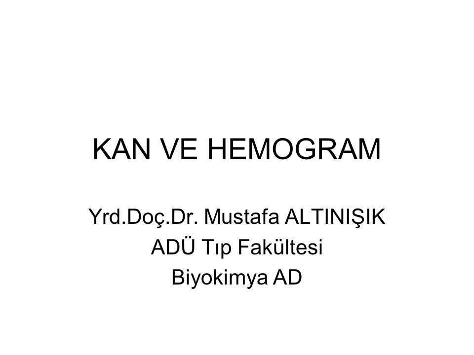 KAN VE HEMOGRAM Yrd.Doç.Dr. Mustafa ALTINIŞIK ADÜ Tıp Fakültesi Biyokimya AD