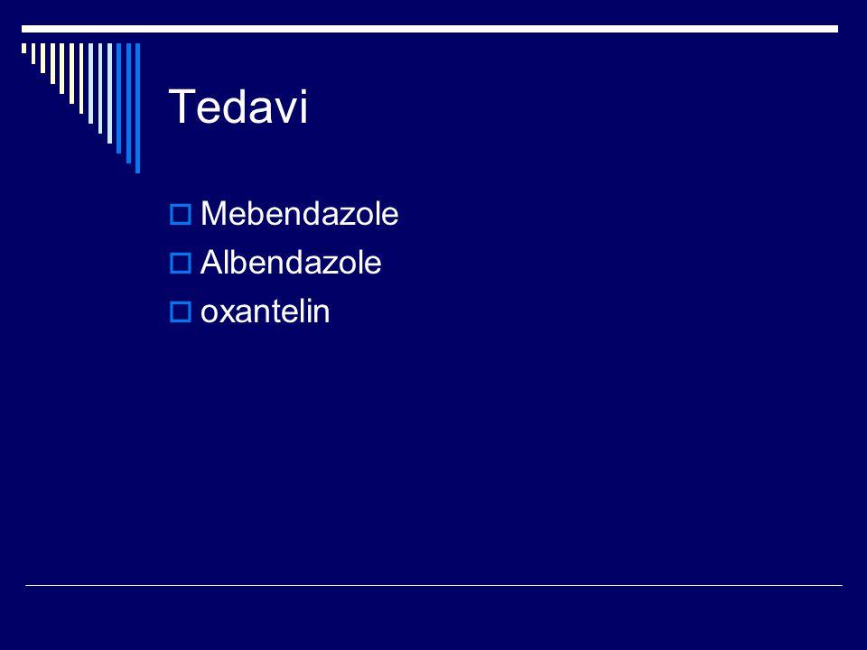 Tedavi  Mebendazole  Albendazole  oxantelin