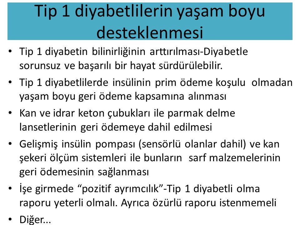 Tip 1 diyabetlilerin yaşam boyu desteklenmesi Tip 1 diyabetin bilinirliğinin arttırılması-Diyabetle sorunsuz ve başarılı bir hayat sürdürülebilir. Tip