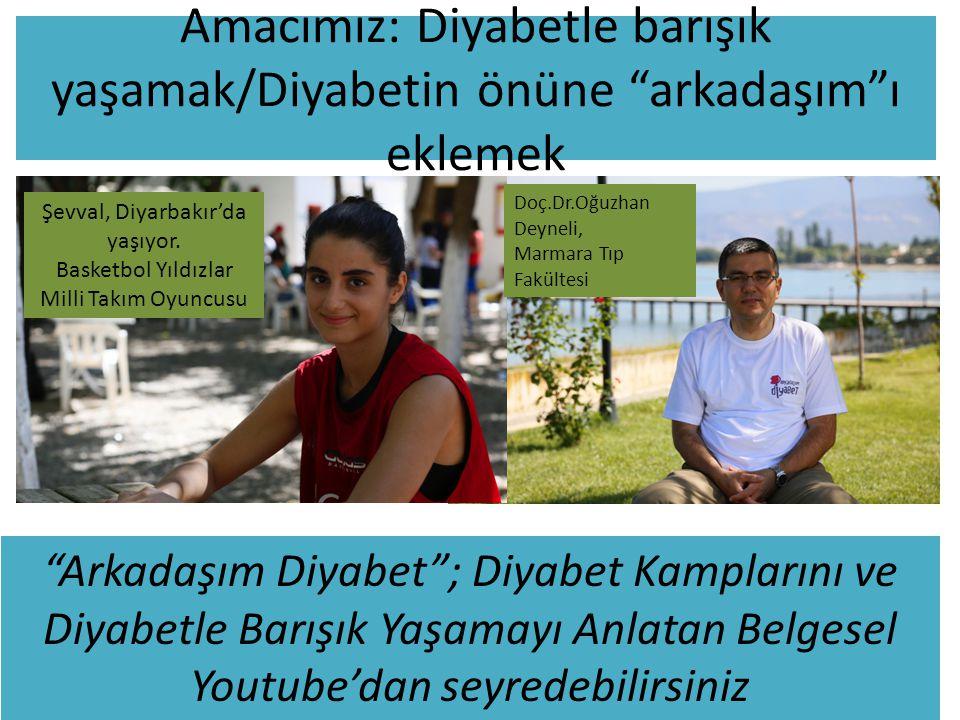 """Amacımız: Diyabetle barışık yaşamak/Diyabetin önüne """"arkadaşım""""ı eklemek Şevval, Diyarbakır'da yaşıyor. Basketbol Yıldızlar Milli Takım Oyuncusu Doç.D"""
