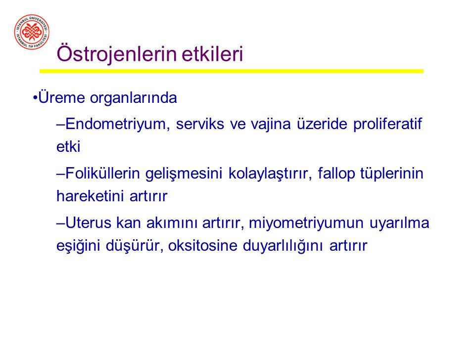 Menstrüel siklüs sırasında / günde Erken foliküler evre Ovulasyon öncesi Luteal faz ortası progesteron (mg) 1 4 25 17-OH-progesteron (mg)0.544 Dehidro