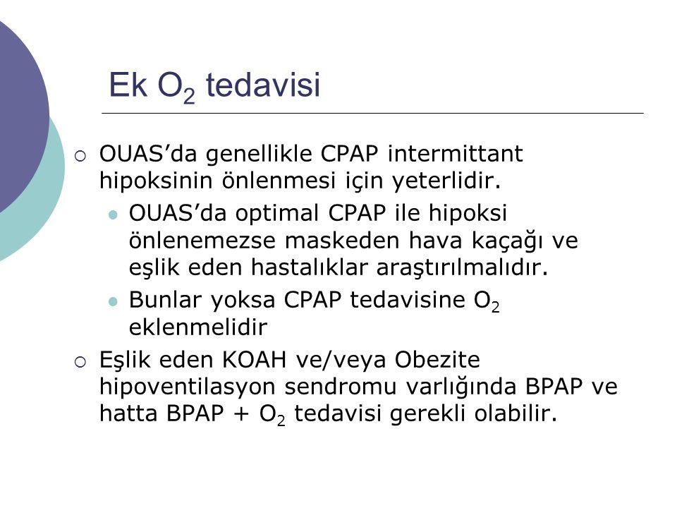 Ek O 2 tedavisi  OUAS'da genellikle CPAP intermittant hipoksinin önlenmesi için yeterlidir.