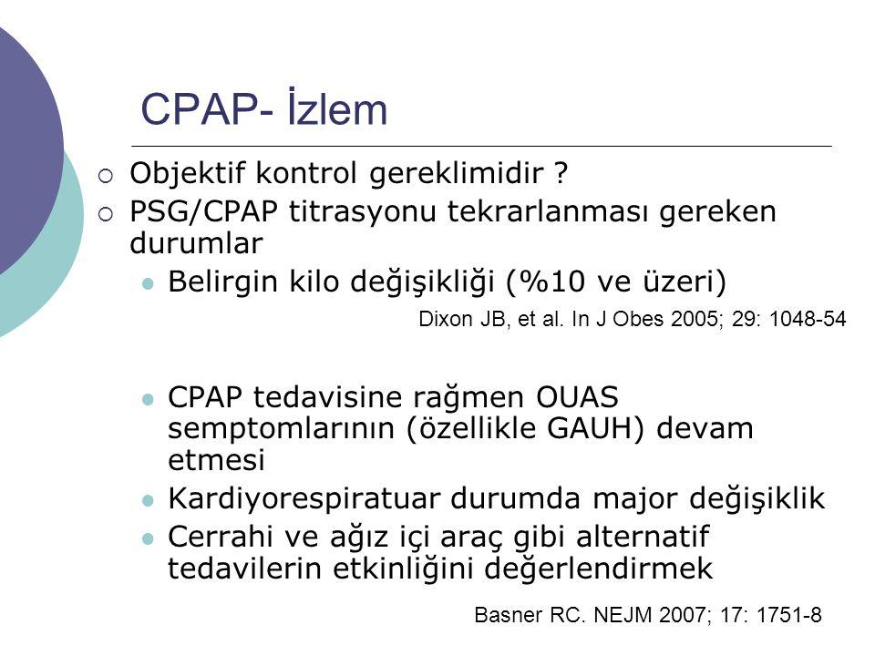 CPAP- İzlem  Objektif kontrol gereklimidir .